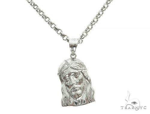 Jesus Piece 20 Inches Rolo Link Chain Set 65793 Metal