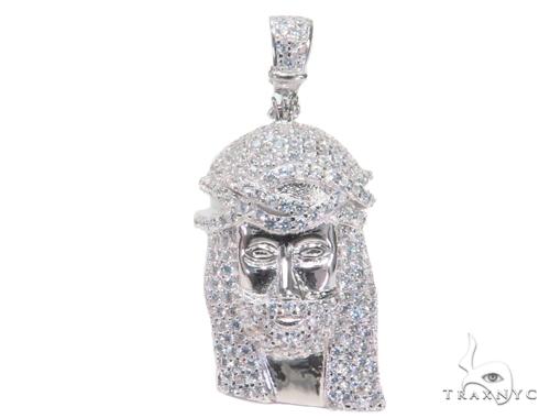 Jesus Silver Pendant 44644 Style