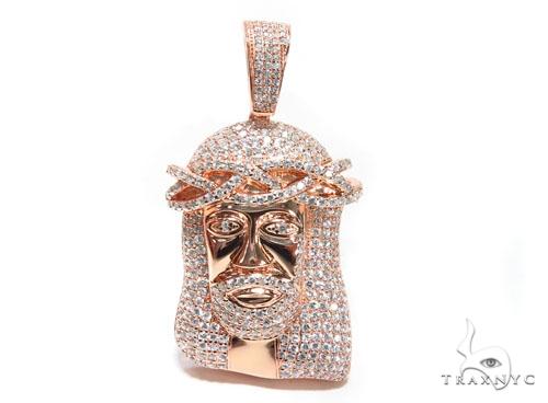 Jesus Sterling Silver Pendant 41664 Metal