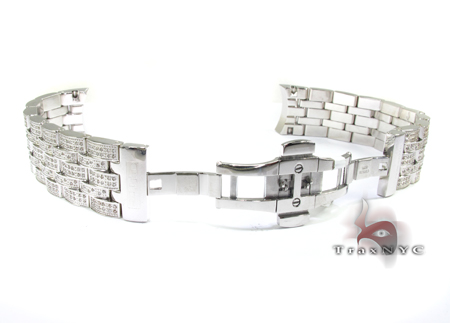 Joe Rodeo White Stainless Steel Band 20mm Fully Iced Watch Accessories