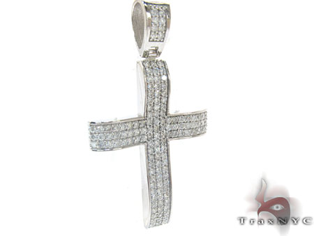 LA Diamond Cross Crucifix Diamond