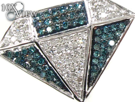 Mens 2 Color Diamond Earrings 21685 Stone