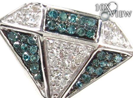 Ladies 2 Color Diamond Earrings 21687 Stone