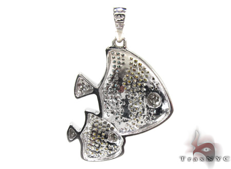 Ladies 3 Color Diamond Pendant 21538 Stone
