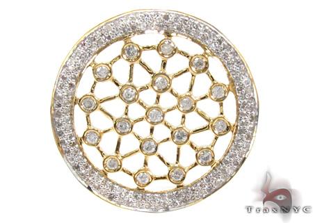 Ladies Bezel Prong Diamond Pendant 21539 Stone