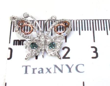 Ladies Butterfly Diamond Pendant 21501 Stone