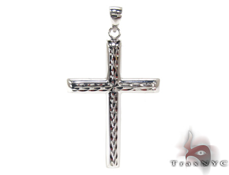 Mens Cross Crucifix Pendant 21551 Gold