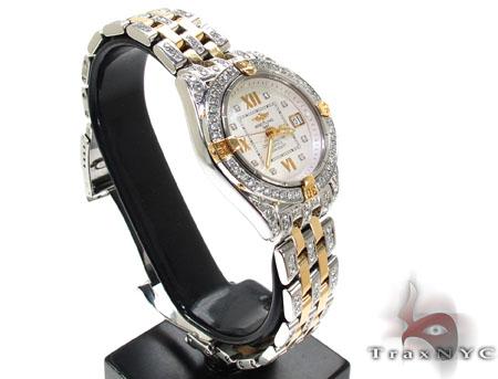 Ladies Diamond Breitling Windrider Cockpit Watch 20789 Breitling
