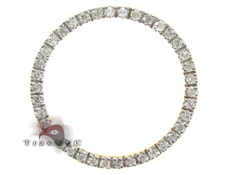 Ladies Yellow Gold Diamond Circle Pendant 21480 Stone