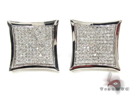 Mens Diamond Earrings 21648 Stone