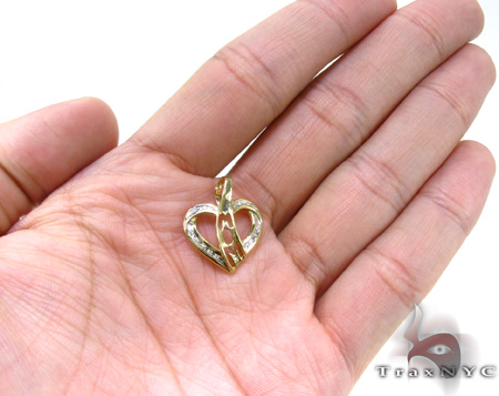 Ladies Diamond Heart Pendant 21497 Stone
