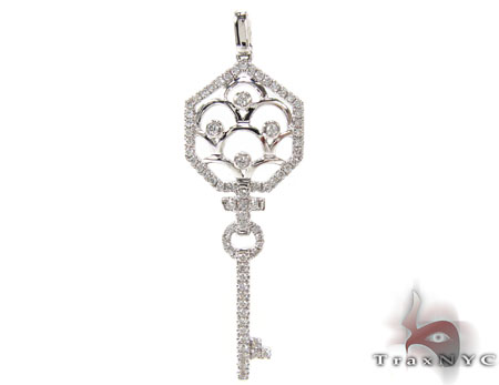 Ladies Diamond Key Pendant 20765 Style