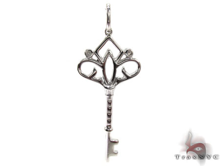 Ladies Diamond Key Pendant 20771 Style