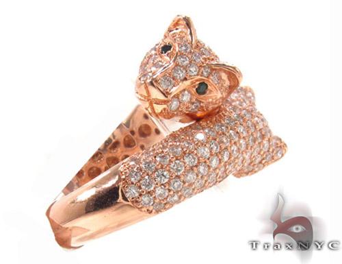 Ladies Diamond Pave Puma Ring Anniversary/Fashion