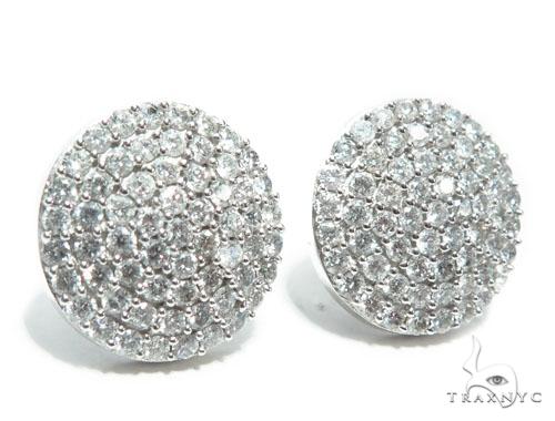 14K Gold Dome Diamond Earrings Stone