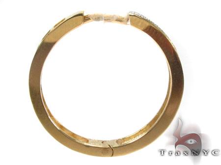 Ladies Micro Pave Diamond Earrings 21641 Stone