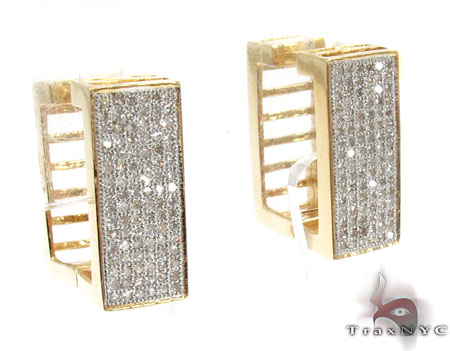 Ladies Micro Pave Diamond Earrings 21623 Stone