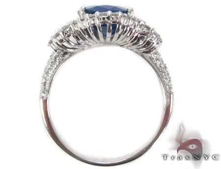 Ladies Night Blue Sapphire Ring Anniversary/Fashion