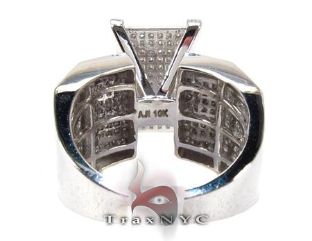 10K White Gold & Diamond Octi-Ring Anniversary/Fashion