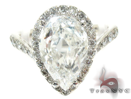 Ladies Pear Cut Diamond Ring 21982 Engagement