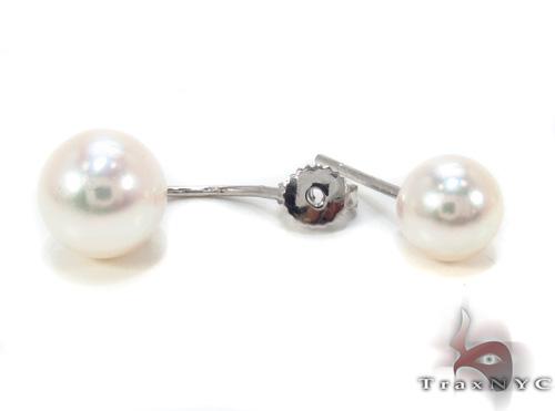 Ladies Pearl Earrings Stone
