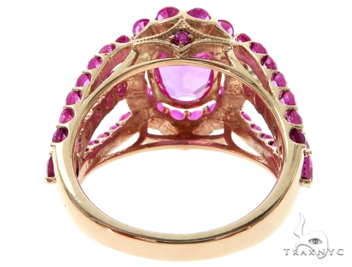 Ladies Pink Sapphire Halo Flower Ring 57698 Anniversary/Fashion
