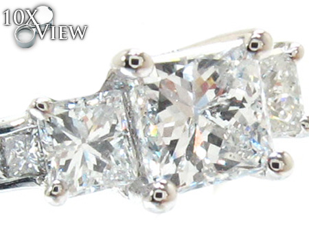 Ladies Princess Cut Diamond Ring 21182 Engagement