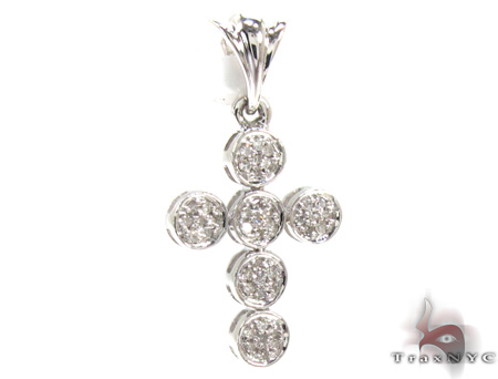 Ladies Prong Diamond Cross Crucifix 21536 Style