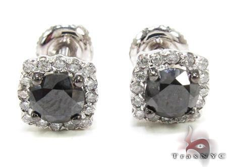 Prong Diamond Earrings 21587 Stone