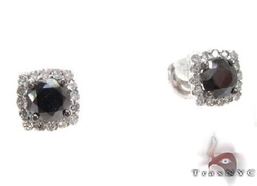 Ladies Prong Diamond Earrings 63942 Stone