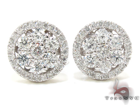 Ladies Prong Diamond Earrings 21407 Stone
