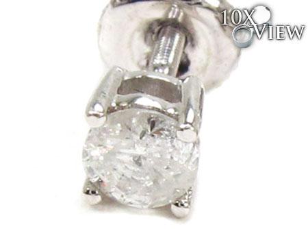 Prong Diamond Earrings 21682 Stone