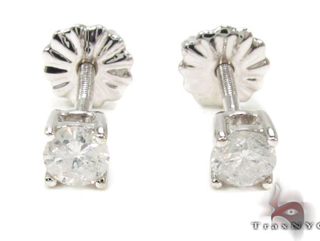 Prong Diamond Earrings 21683 Stone