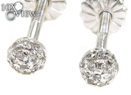 Ladies Prong Diamond Earrings 21684 Stone