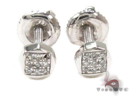 Ladies Prong Diamond Earrings 21754 Stone