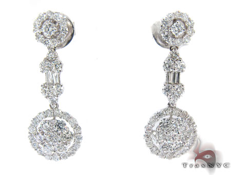 Ladies Prong Diamond Earrings 22307 Stone