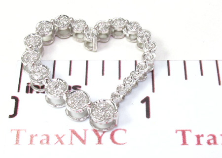 Ladies Prong Diamond Heart Pendant 21522 Stone
