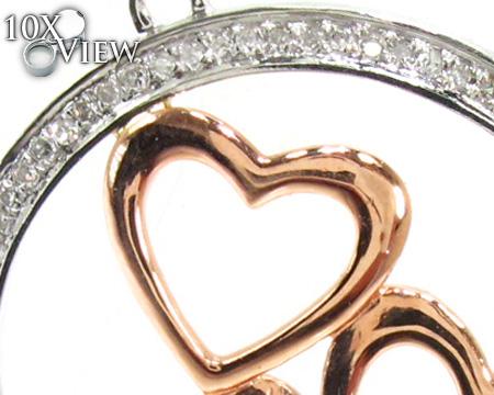 Ladies Prong Diamond Heart Pendant 21524 Stone
