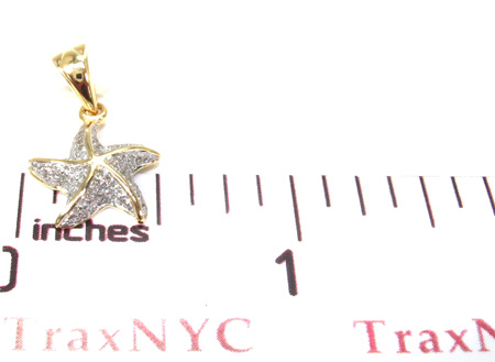 Ladies Prong Diamond Pendant 21527 Stone