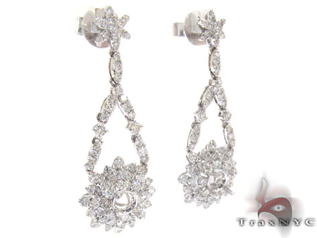 Ladies Prong Diamond Semi Mount Earrings 22310 Stone
