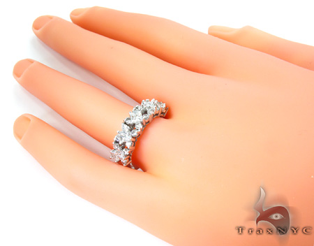 Ladies Prong Engagement Band Wedding