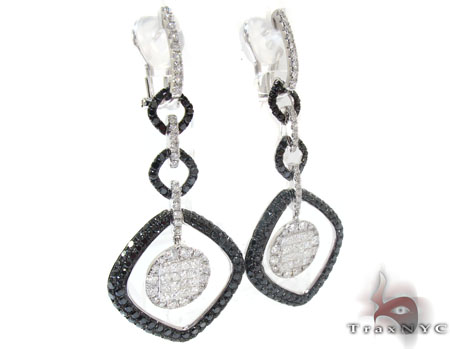 Ladies Prong Invisible Diamond Earrings 22262 Stone