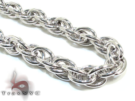Ladies Silver Chain 18 Inches 11mm 48.4 Grams Silver