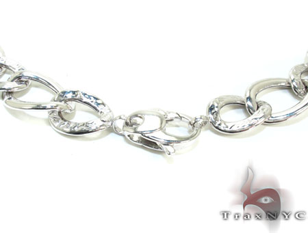 Ladies Silver Chain 18 Inches 16mm 33.3 Grams Silver