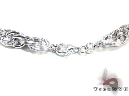 Unisex Silver Chain 20 Inches 9mm 49.5 Grams Silver