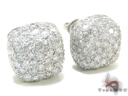 Diamond Pillow Earrings 21333 Stone