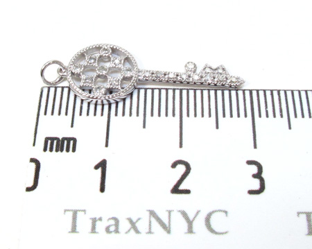 Ladies Diamond Key Pendant 21197 Style