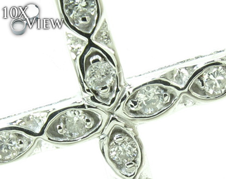 Ladies Prong Diamond Cross Crucifix 21202 Style