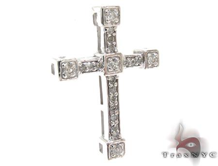 Ladies Prong Diamond Cross Crucifix 21203 Style