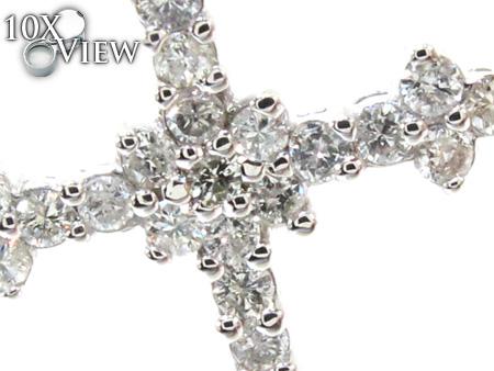 Ladies Prong Diamond Cross Crucifix 21206 Style